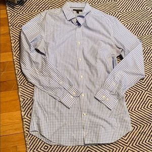 Banana republic light blue gingham dress shirt